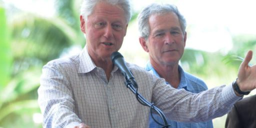 Because Bill Clinton Is Popular, And George W. Bush Is Not