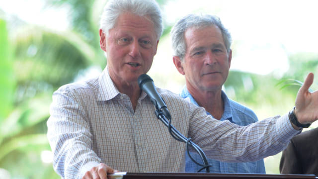 George W Bush Bill Clinton
