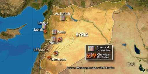 U.S. Has Lost Track Of Some Of Syria's Chemical Weapons