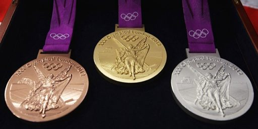 Not Much Real Gold In Those Gold Medals