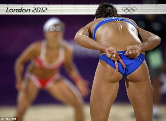 Beach volleyball accidental nudity agree