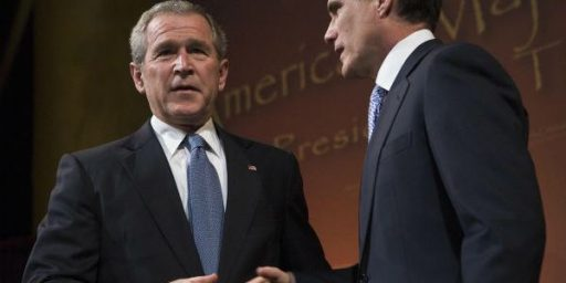 George W. Bush Viewed More Favorably Than Mitt Romney