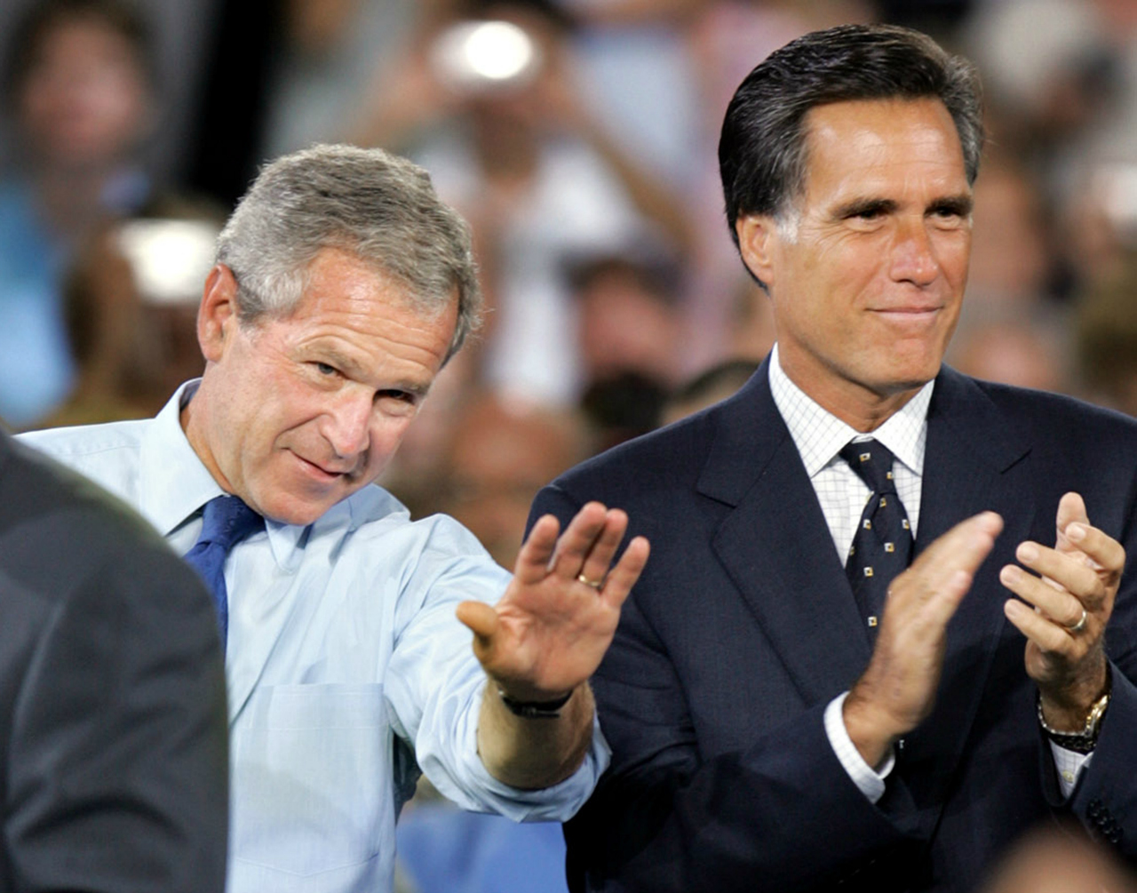 Mitt Romney George W Bush