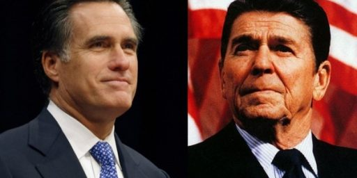 Mitt Romney 2012 v. Ronald Reagan 1980: A Brief Study In Contrasts