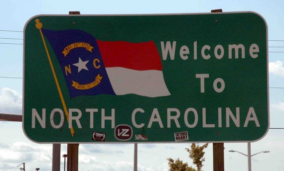 Welcome to North Carlina sign