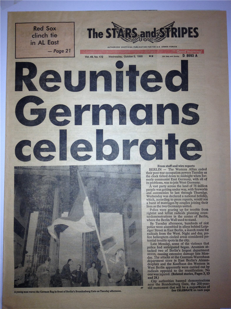 reunification in germany essay Is south korea ready for reunification e-ir publishes student essays despite the preparations that were made before the actual reunification, west germany.