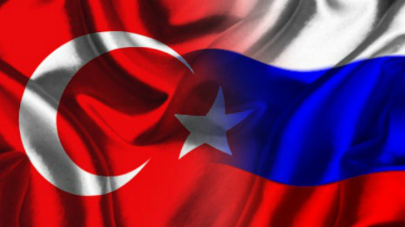 Turkey Russia Flags