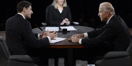 Biden-Ryan Debate Mostly A Draw