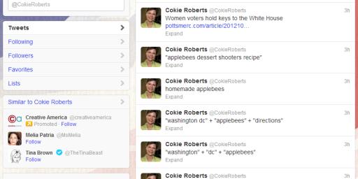 Cokie Roberts +  Applebees + Twitter