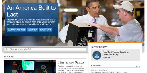 White House Website Politicization