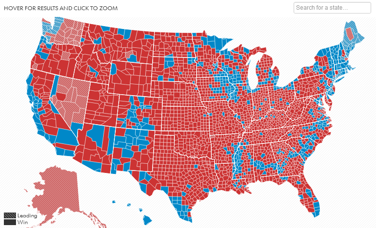 2012 Election County-By-County