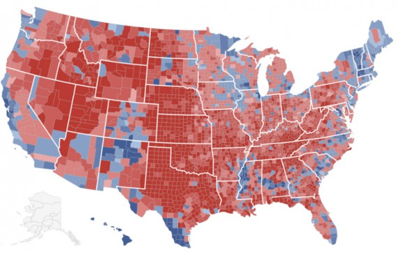 2012 CountyByCounty Map Weighted By Population