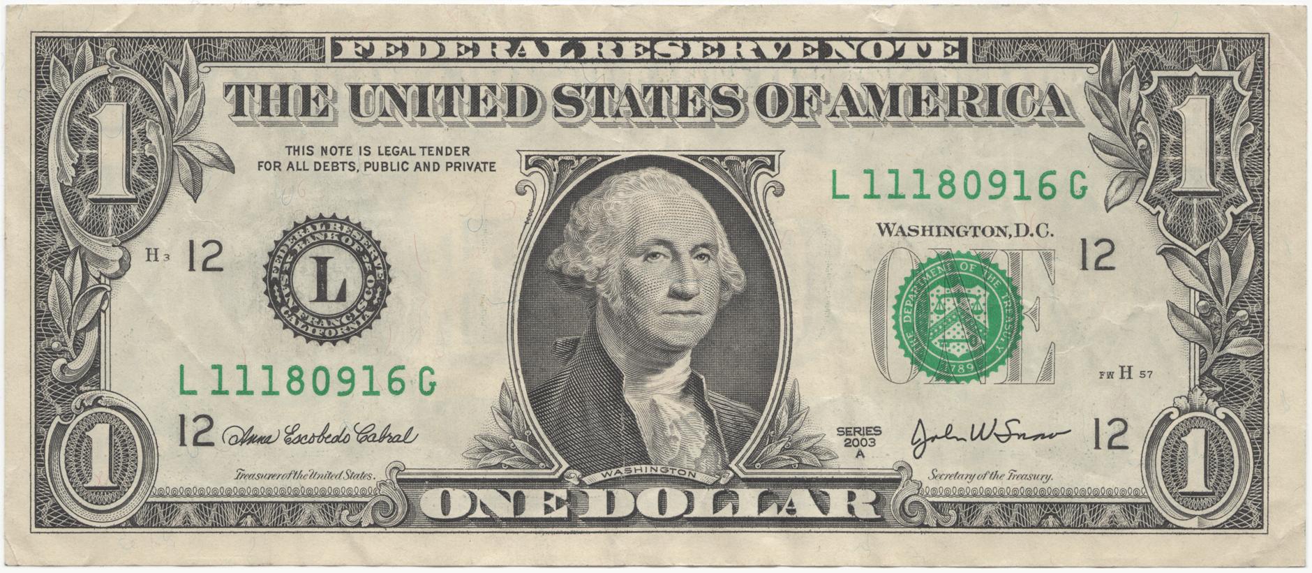 a. dollar bill 2