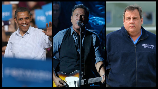 Barack Obama Bruce Springsteen Chris Christie