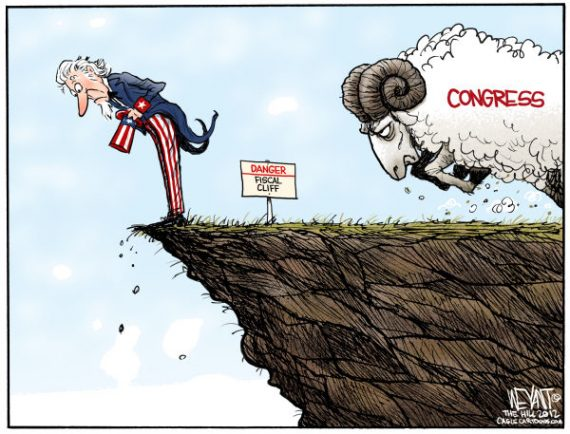fiscal-cliff-cartoon-uncle-sam-ram