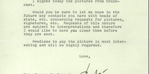 JFK In 1962: Mom, Please Stop Writing Khruschev