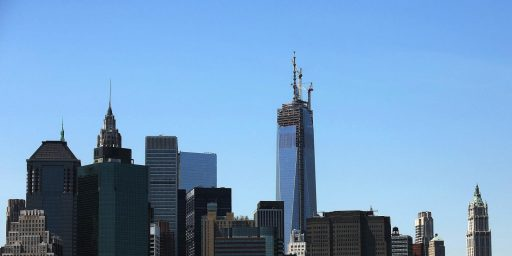 One World Trade Center Gets Its Spire