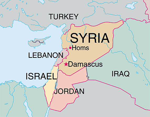 Syria Area Map