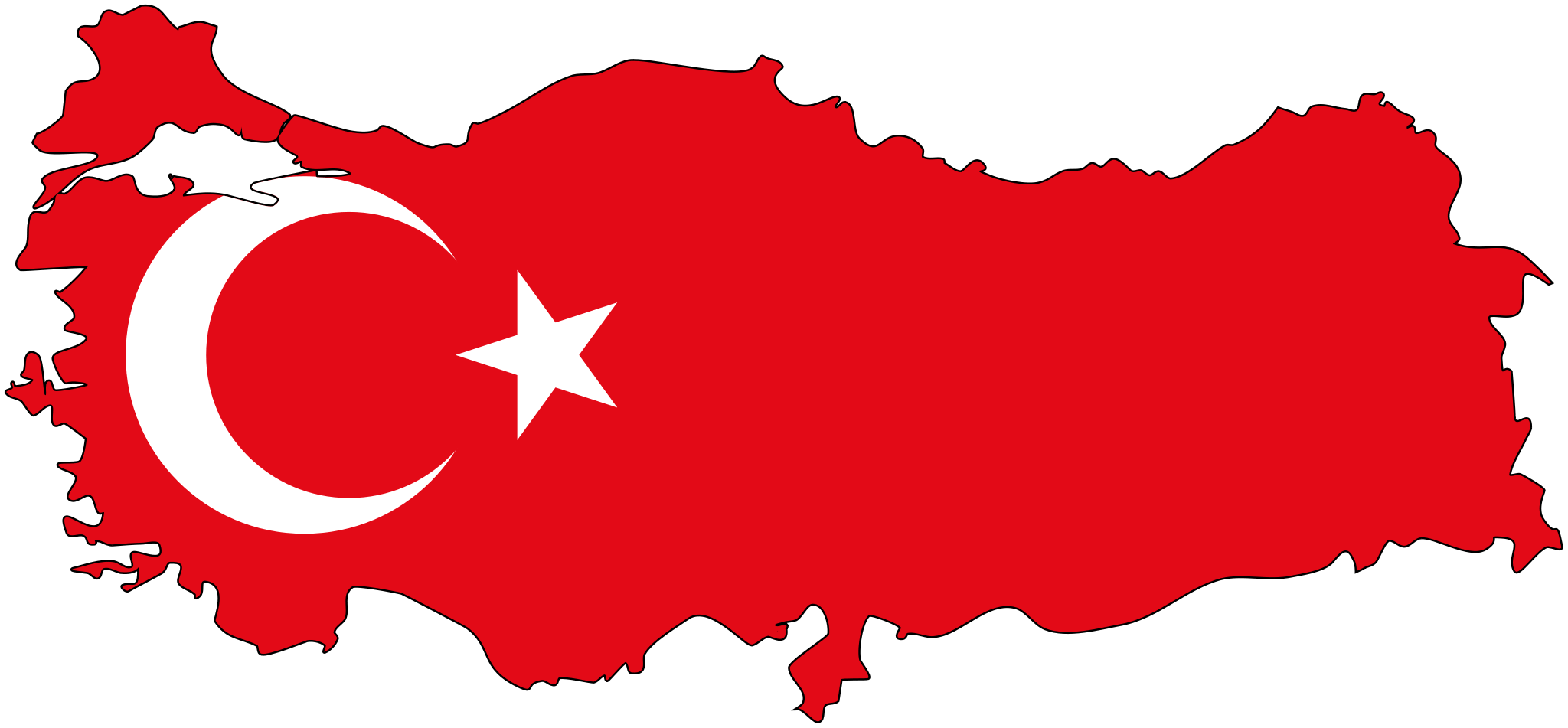 Turkey Flag Map