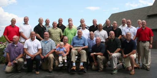 President George H.W. Bush Shaves Head for Patrick's Pals