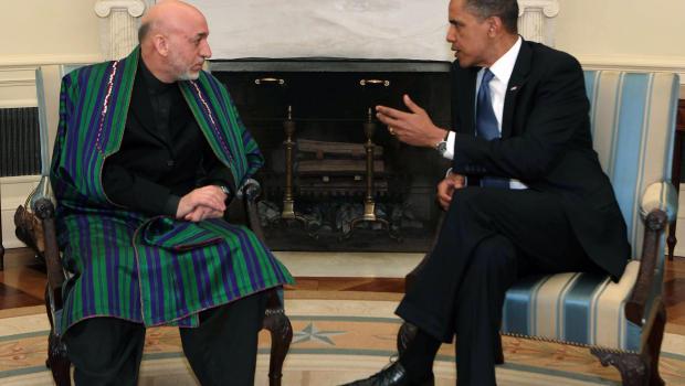 Obama Karzai