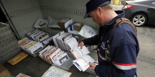 U.S. Postal Service Is Logging All Mail For Law Enforcement