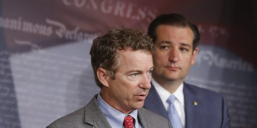"Rand Paul Admits What Ted Cruz Won't: The ""Defund Obamacare"" Plan Won't Succeed"