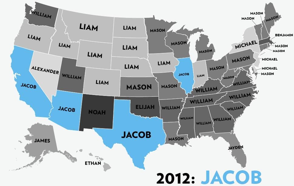 Boys Names 1960 2012