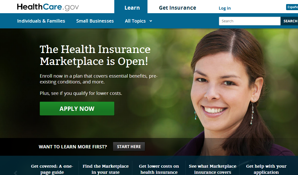 Healthcaredotgov Screenshot