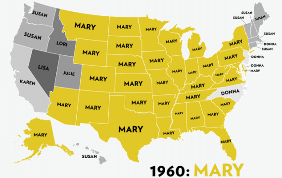 2 usa powerpoint map with 50 editable states and names the advance and retreat of girls names 1960 2012