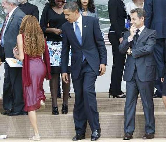 Obama Sarkozy Ogle
