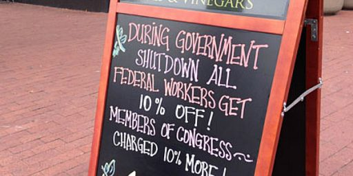 D.C. Restaurant Gives Furloughed Workers Discount, Charges Congressmen More