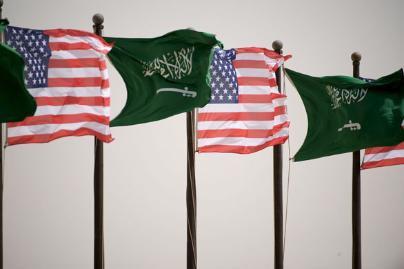 US Saudi Flags