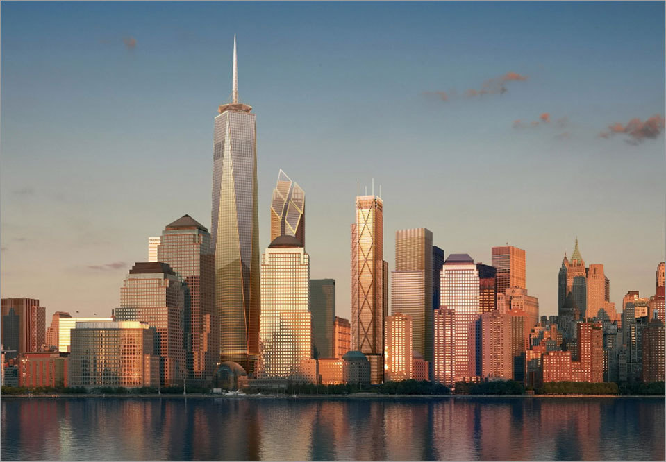 NYC Skyline With One World Trade Center
