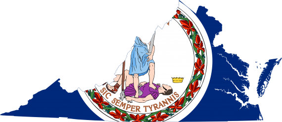 Virginia Flag Map