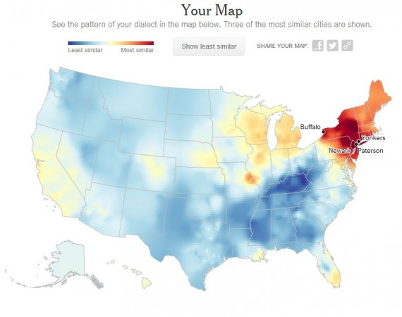 Whats Your Dialect - Us dialect map quiz