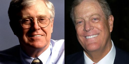 Koch Brothers Not As Big A Deal As Democrats Would Hope