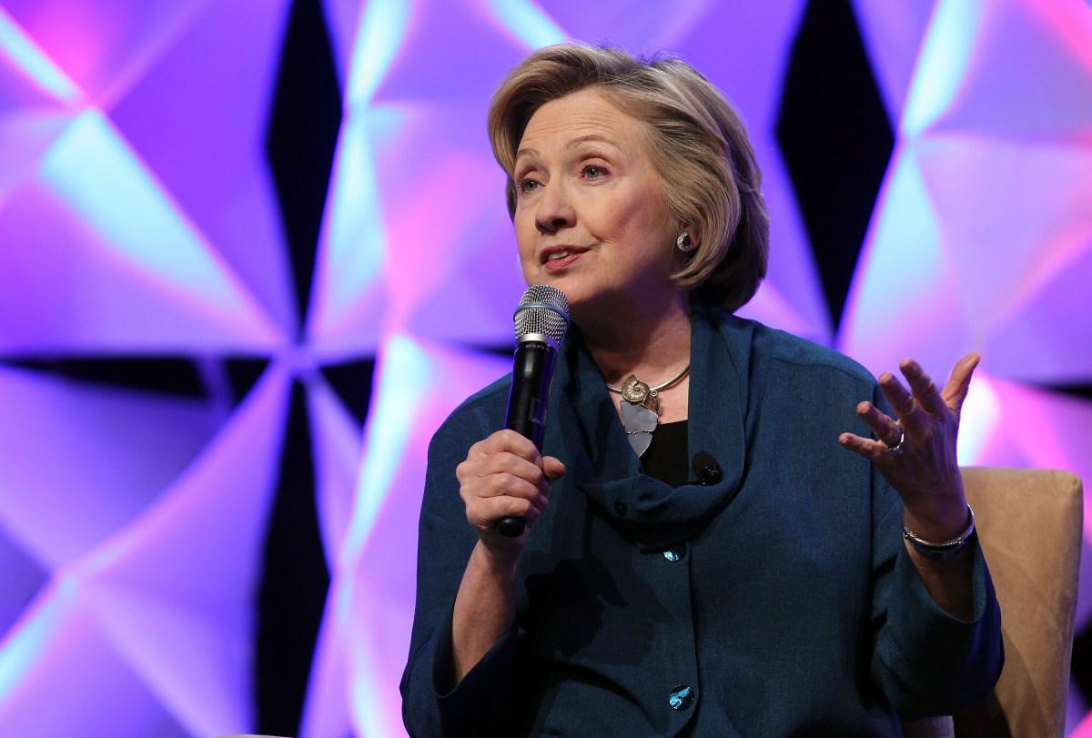 Hillary Clinton Addresses Recycling Industries Trade Conference In Las Vegas