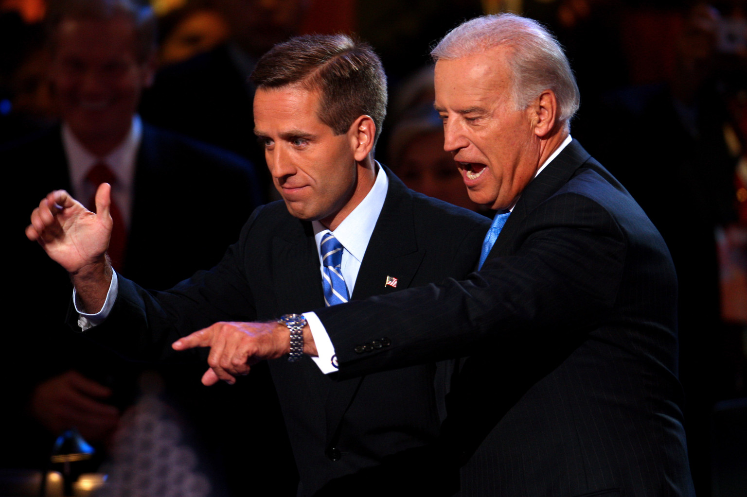 Joe Biden, right, a Democratic senator from Delaware and vic
