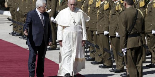 Pope Endorses Palestinian State In West Bank Visit