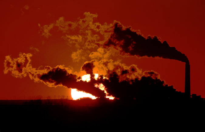 Coal Fired Power Plant Sunset