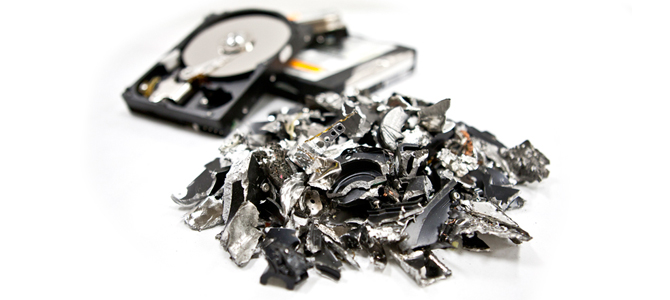 Destroyed Hard Drives
