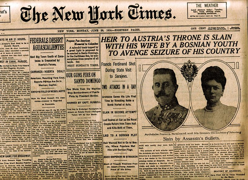 New York Times 29 June 1914