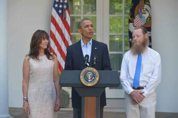 President Obama Rose Garden Bergdahl