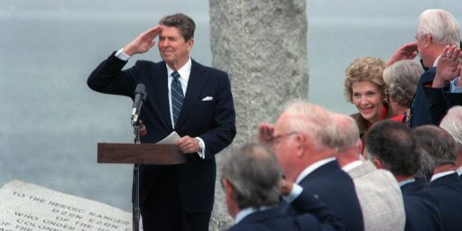 At Normandy, Obama Continues A Tradition That Reagan Started
