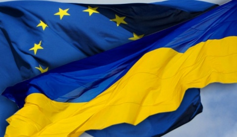 Ukraine EU Flags