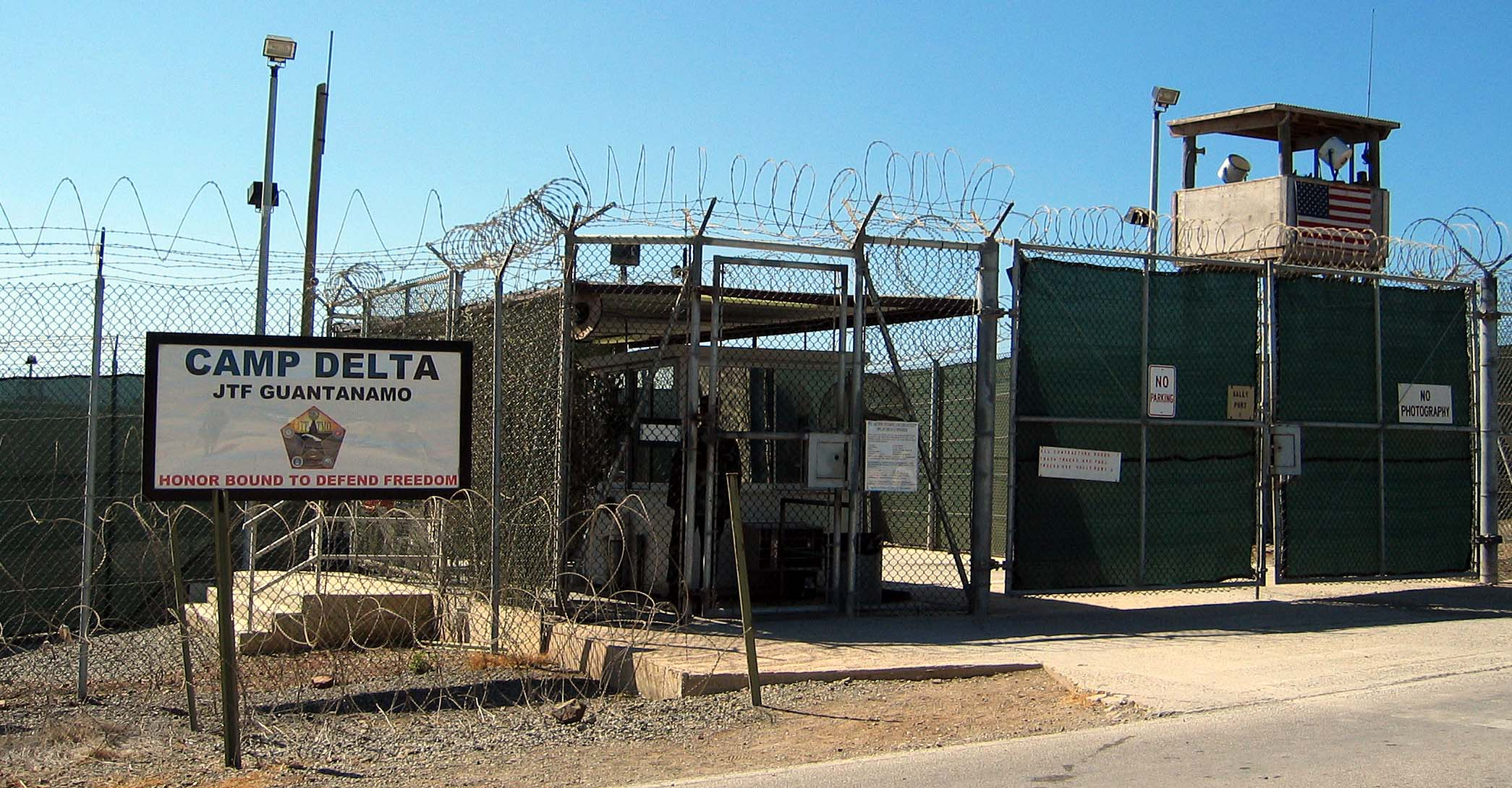 Guantanamo Bay Camp Entrance
