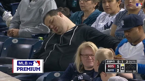 Sleeping Yankees Fan