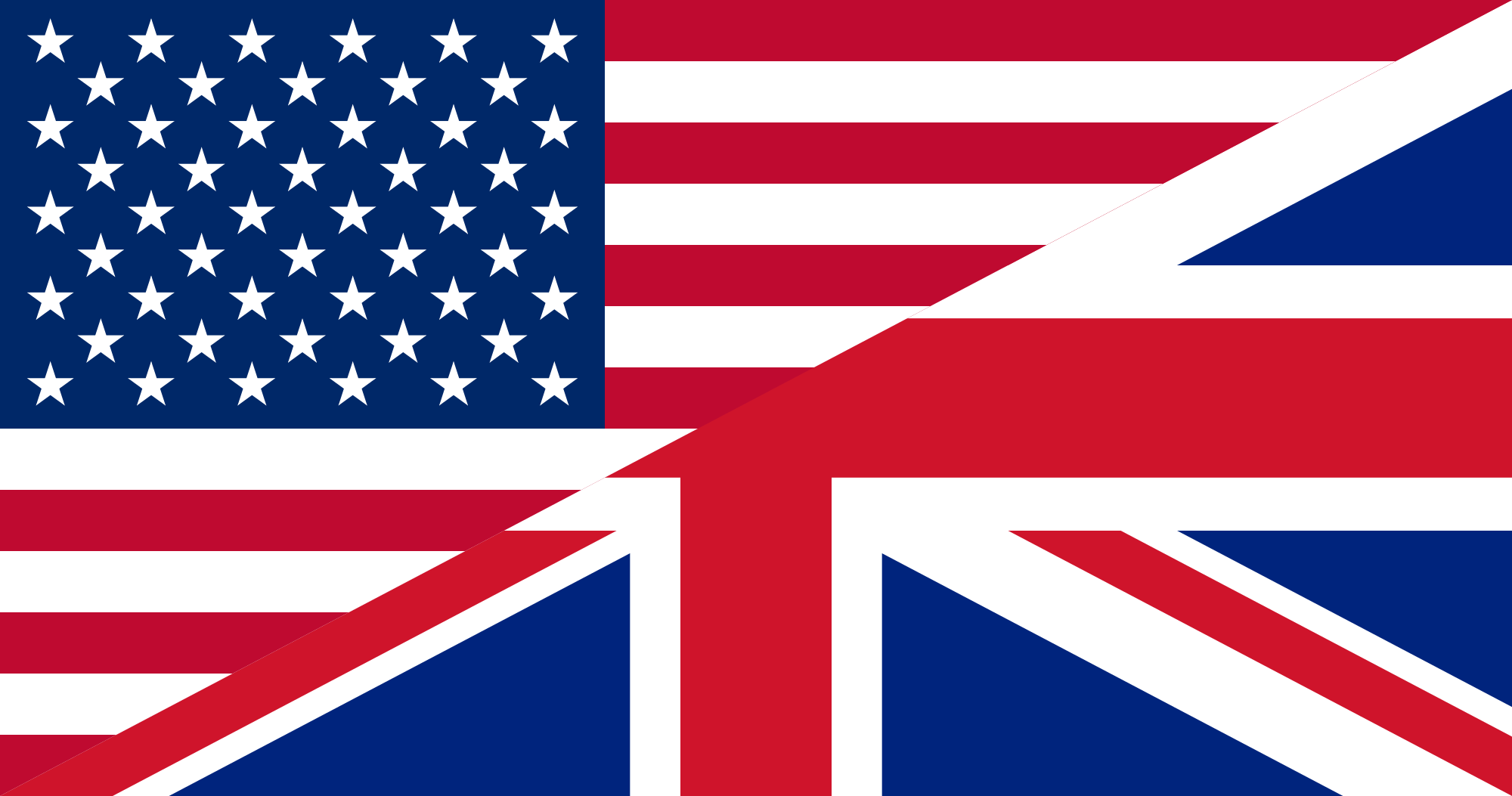 U.S. British Flags