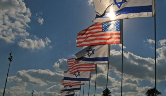 US Israeli Flags
